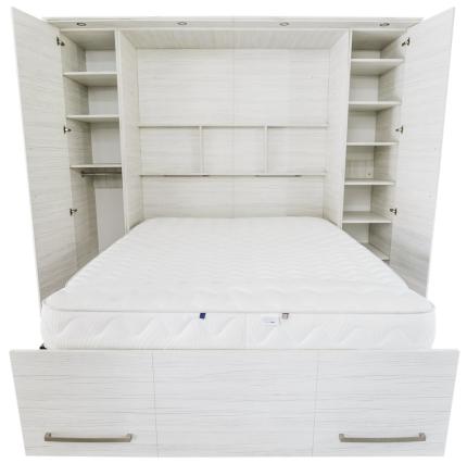 Schrankbett Wandbett 50-W-1 Alu Basic