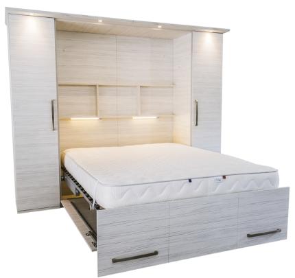 Schrankbett Wandbett 50-W-1 Alu Premium