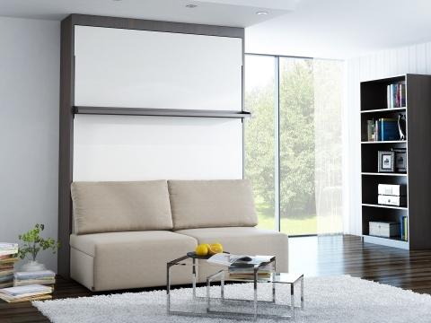 Schrankbett wandbett mit sofa leggio linea classic std basic - Wandbett mit sofa ...