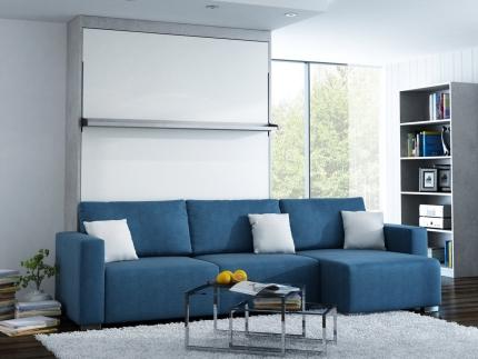 Schrankbett Wandbett mit Ecksofa Leggio Linea MK I LW Premium