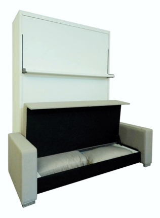 Schrankbett Wandbett mit Ecksofa Leggio Linea MK I STD-STD Basic