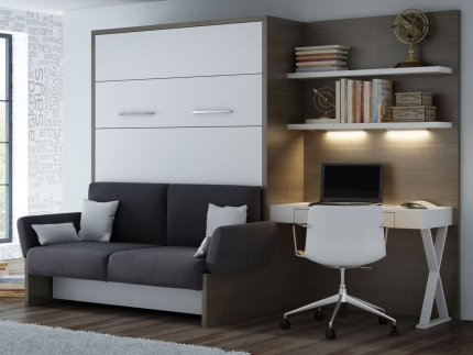 Schrankbett Wandbett mit Sofa WBS 1 Soft Office Claims