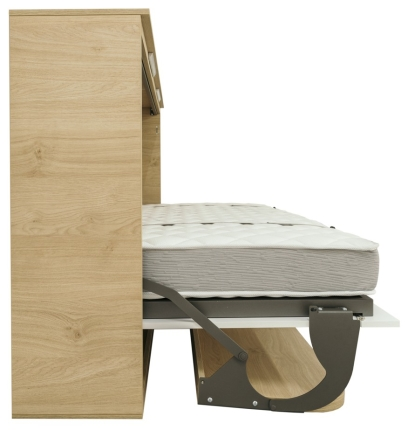 Schrankbett Wandbett mit Schreibtisch Singlo Desk Basic