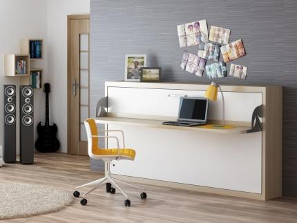 Schrankbett Wandbett mit Schreibtisch Singlo Desk Claims