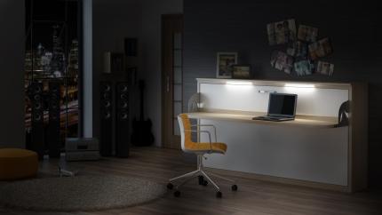 Schrankbett Wandbett mit Schreibtisch Singlo Desk Premium