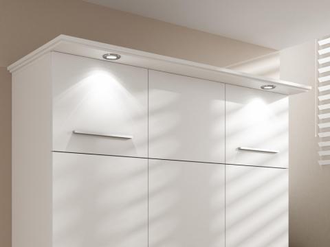 Kranzleiste Lux mit Beleuchtung für Wandbetten Advantage