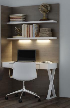 Wandpaneel mit Schreibtisch Office Basic