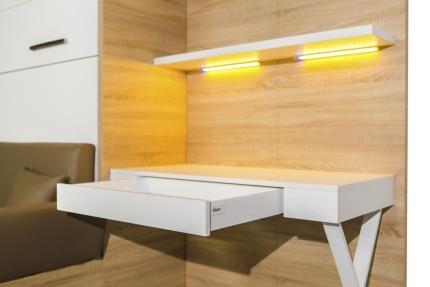 Wandpaneel mit Schreibtisch Office Premium