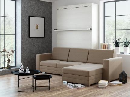 Schrankbett Wandbett mit Ecksofa Leggio Linea Tondo LW Premium