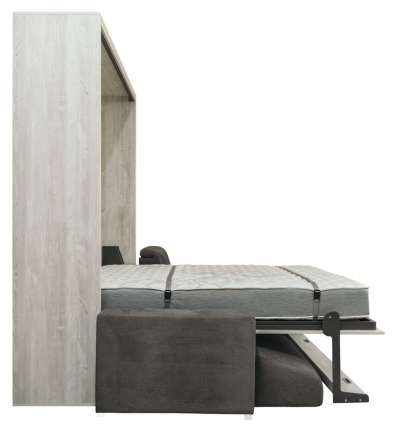 Schrankbett Wandbett mit Sofa Leggio Linea Tondo Dlugie XL Claims