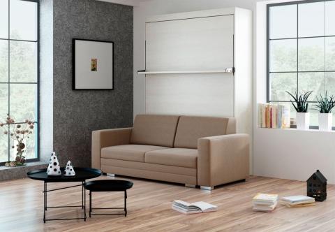 Schrankbett Wandbett mit Sofa Leggio Linea Tondo STD Claims