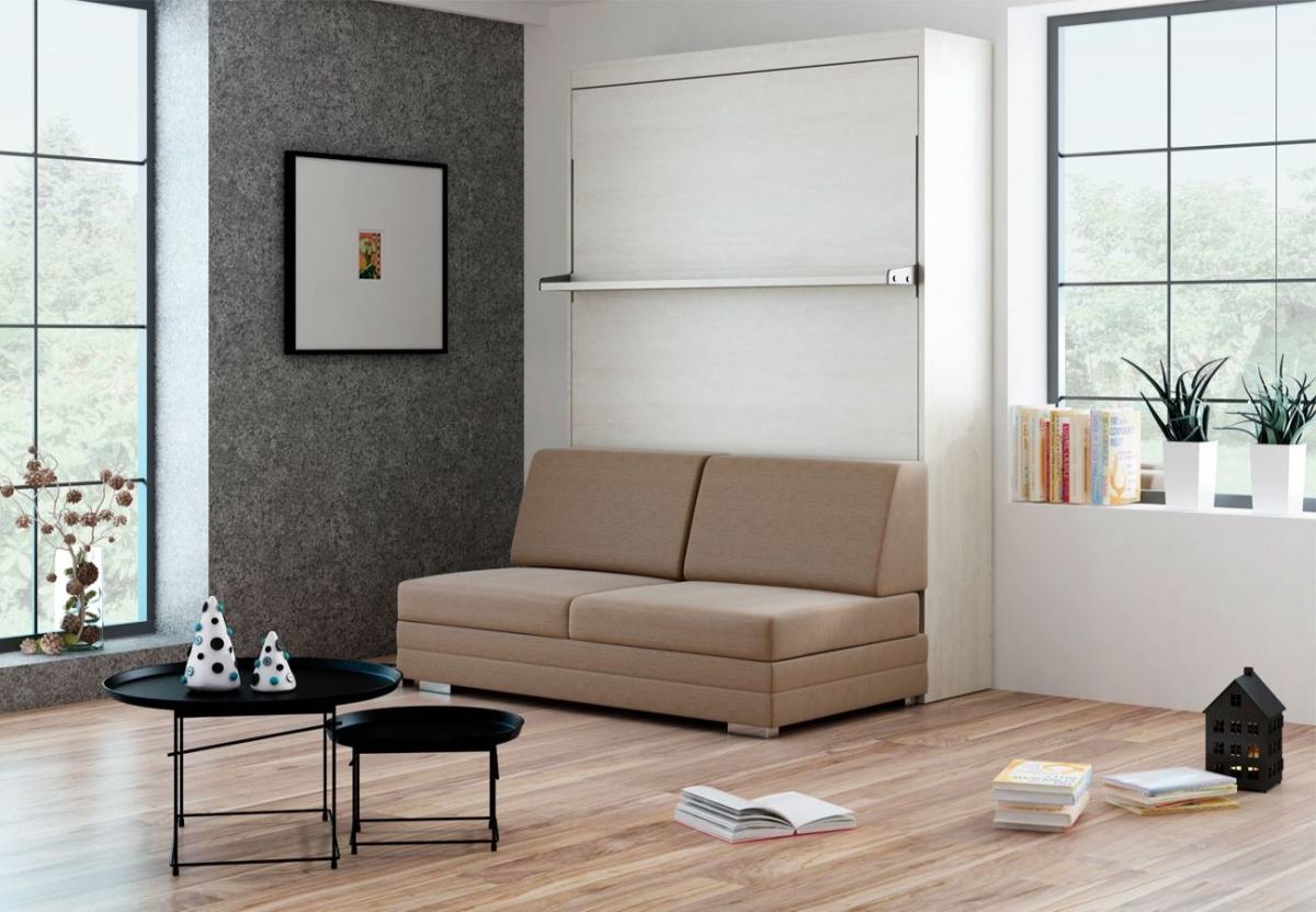 Schrankbett Wandbett mit Sofa Leggio Linea Tondo Classic