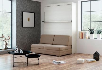 Schrankbett Wandbett mit Sofa Leggio Linea Tondo Classic STD Premium