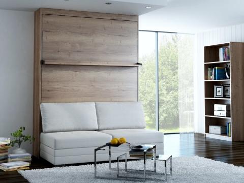 Schrankbett Wandbett mit Sofa Leggio Linea MK II Classic STD Premium