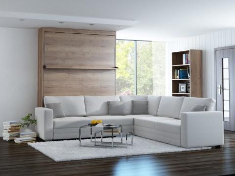 Schrankbett Wandbett mit Ecksofa Leggio Linea MK II STD-STD Premium