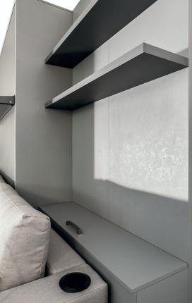 Wandpaneel mit Bettkasten Leggio Basic
