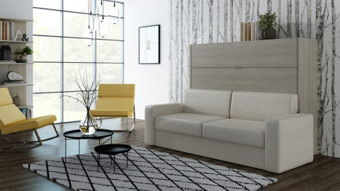 Schrankbett Wandbett mit Sofa Livello Advantage
